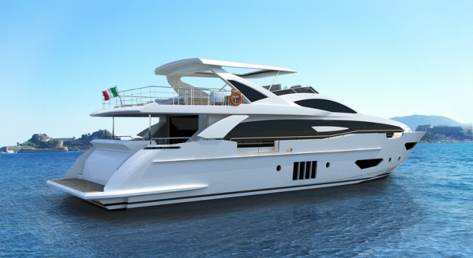 Superyacht 95RPH by Azimut - aft view