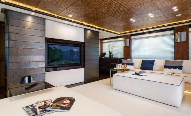 Superyacht I-Nova - Upper Saloon Photo credit to AB Photodesign