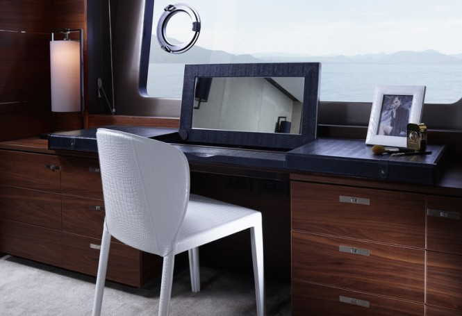 88MY - Owners Stateroom - Dressing Table