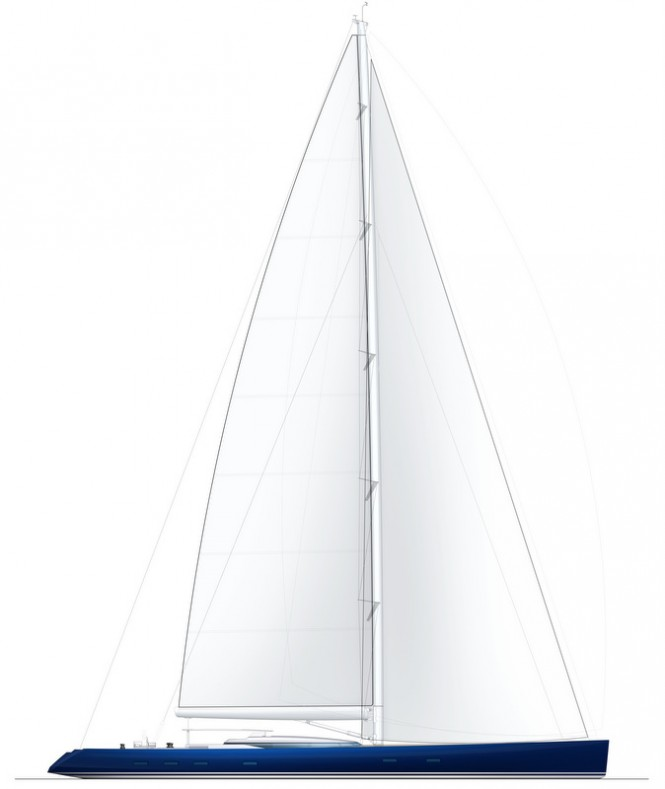 Luxury yacht PS46 concept - Sail Plan