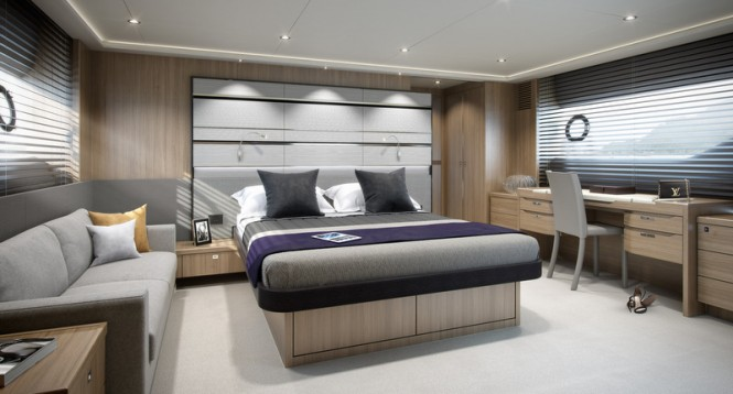 Luxury yacht Princess S72 - Owners Stateroom