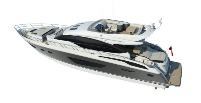 Luxury yacht S72 by Princess Yachts
