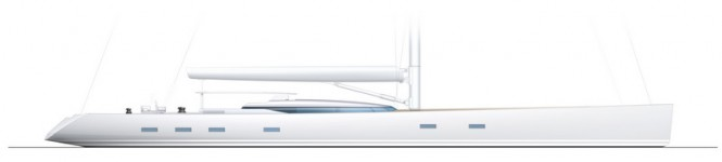 PS46 superyacht concept - Profile - white hull