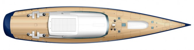PS46 superyacht concept - deck view closed