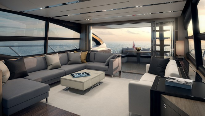 Princess S72 Yacht - Saloon