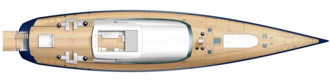 Sailing yacht PS46 design - Deck View open