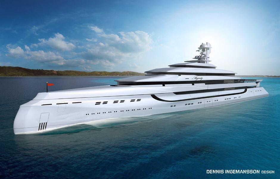 Superyachten concept  180m superyacht HER MAJESTY concept — Luxury Yacht Charter ...