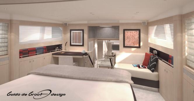 30m luxury yacht Continental III RPH - Cabin