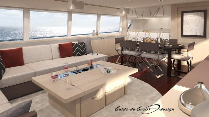 30m superyacht Continental III RPH - Interior
