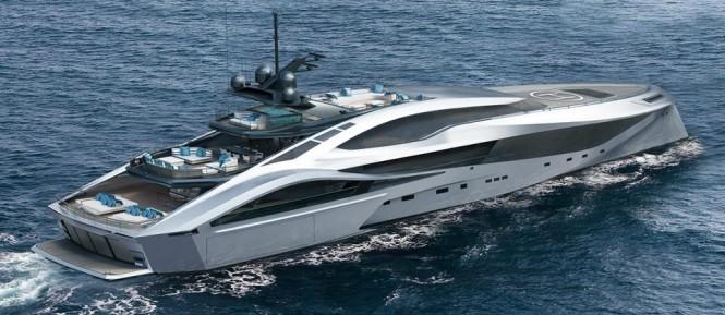 72m SuperSport Series superyacht by Palmer Johnson - aft view