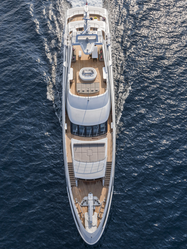 Benetti luxury yacht PANTHERA from above