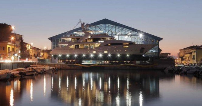 Benetti superyacht Soy Amor (BY003) at launch