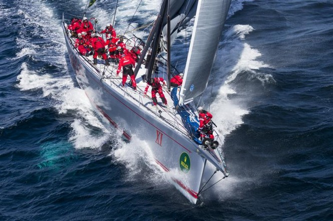 DSS foil powered 100ft superyacht Wild Oats XI - Photo credit to Rolex Carlo Borlenghi