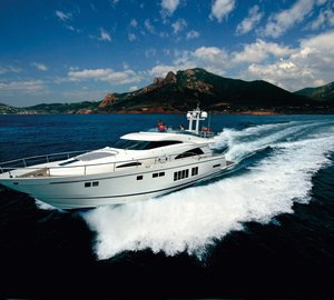 Fairline Boats launches its 100th Squadron 78 Yacht