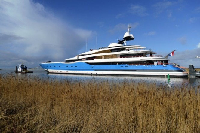 Feadship launch superyacht Madame Gu