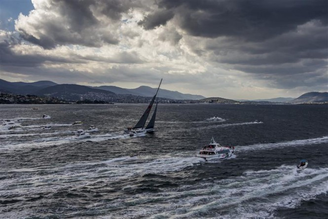 Final sprint for Line Honours Winner Wild Oats XI Yacht - Photo credit to Rolex Carlo Borlenghi