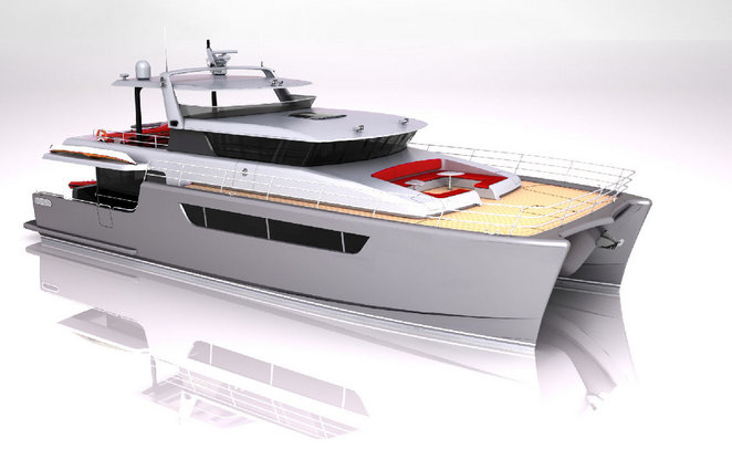 Luxury catamaran Heliotrope 80 by Bakri Cono