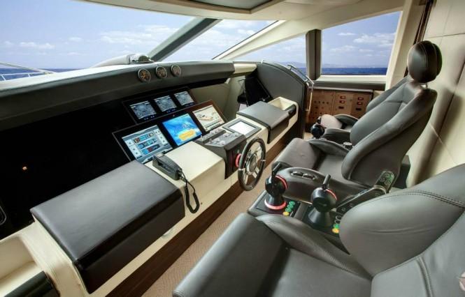 Luxury yacht Azimut Grande 120SL - Wheelhouse