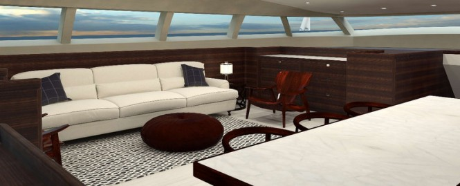 Luxury yacht PS46 concept - Saloon