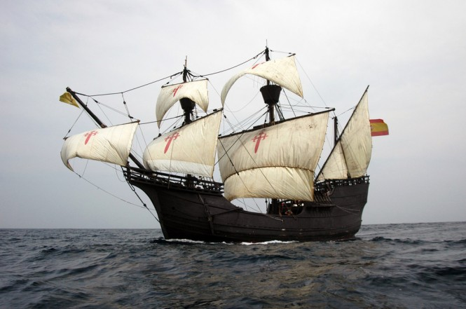Historic replica of Ferdinand Magellan's galleon, NAO Victoria (Photo Credit: FUNDACION NAO VICTORIA)