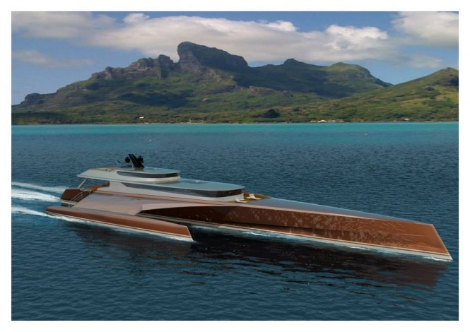 New 60m Power Trimaran unveiled by Blue Coast Yachts
