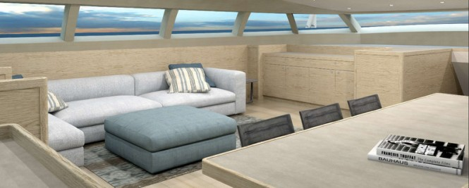 PS46 superyacht concept - Traveller Saloon