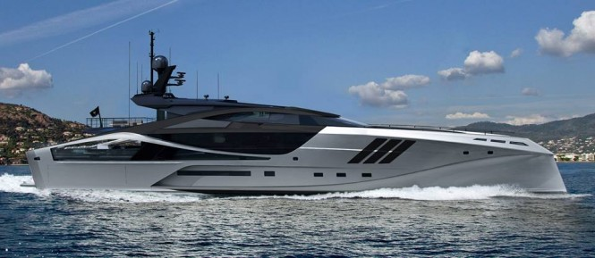 Palmer Johnson 48m SuperSport Superyacht - side view