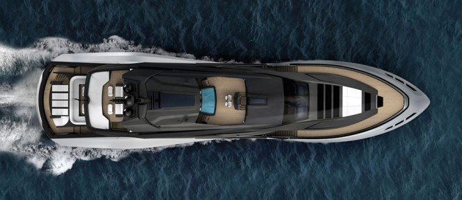 Palmer Johnson 48m SuperSport Yacht from above