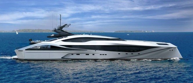 Palmer Johnson 72m SuperSport Series yacht - side view