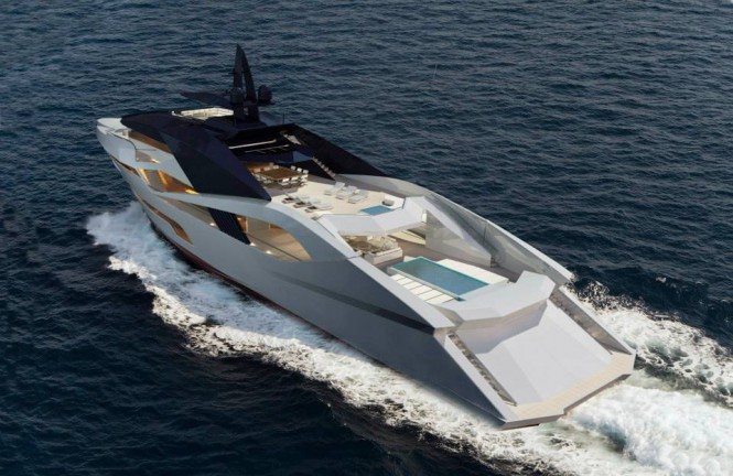 Project Granturismo superyacht from above