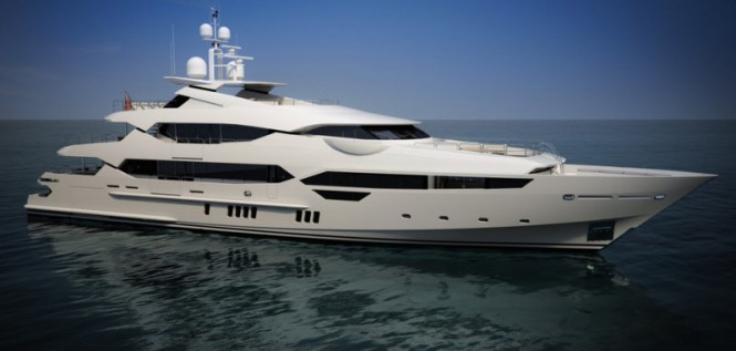Rendering of Sunseeker 115 Yacht