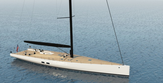 Rendering of WallyCento #3 Yacht