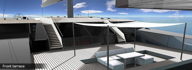 Sunreef 165 Ultimate superyacht - Front Terrace
