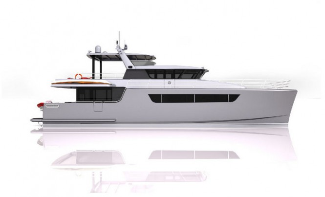 Superyacht Heliotrope 80 - side view