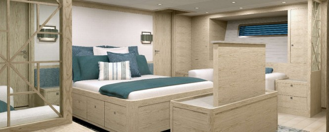 Superyacht PS46 concept - Traveller Owners Cabin