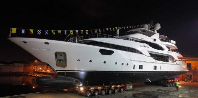 Superyacht Soy Amor at delivery ceremony