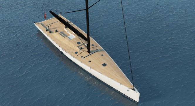 WallyCento #3 superyacht from above