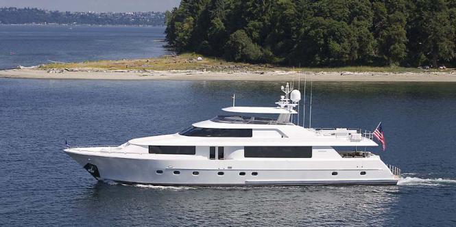 Westport 112 yacht - sistership to Lyon's Pride yacht
