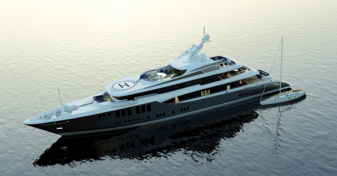 73m motor yacht Odessa II (Project 423) - Exterior by Focus Yacht Design
