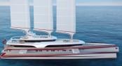 80m mega yacht Dragonship by Pi Yachts and McPherson Yacht Design