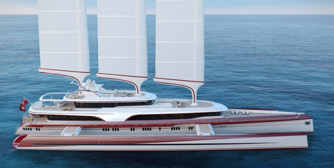 80m mega yacht Dragonship by Pi Yachts and McPherson Yacht Design