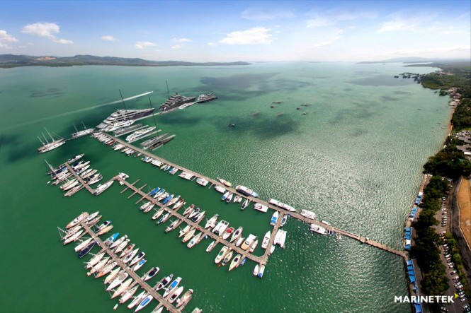A rendering of newly extended Yacht Haven Marina Phuket - Image credit to Marinetek