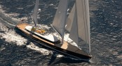 Alloy superyacht Mondango3 under sail