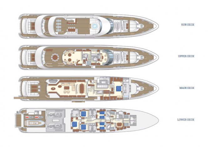 Azuro superyacht - Layout