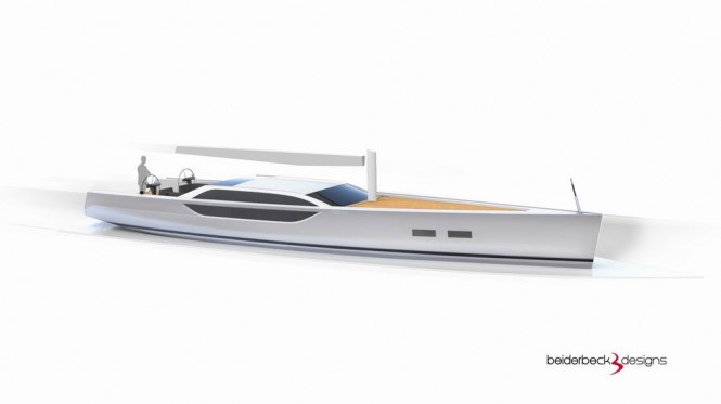 Bd80 superyacht - side view