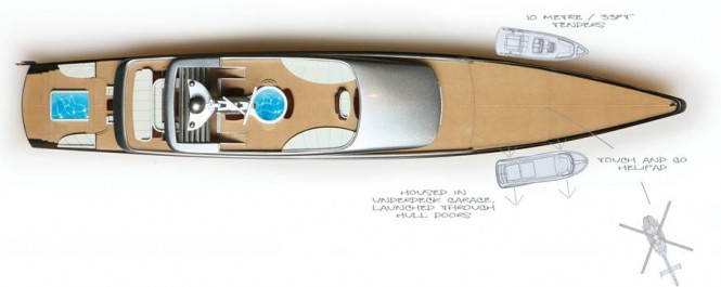 DART superyacht concept - Layout