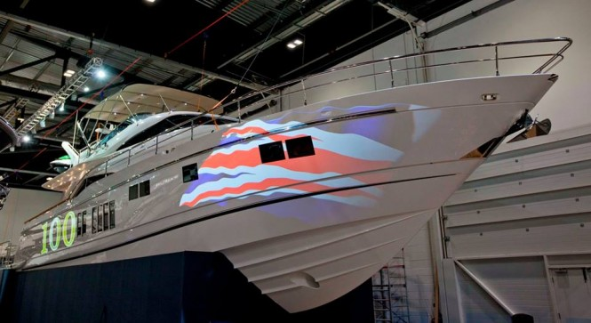 Fairline Boats celebrating the 100th yacht model of the Squadron 78l
