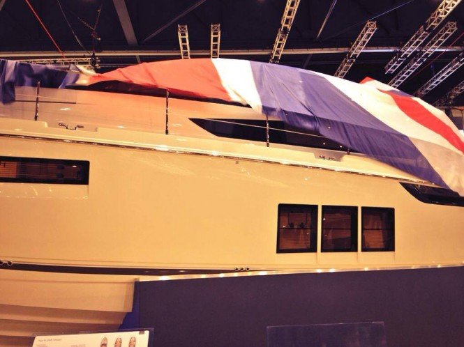 Fairline Targe 48 Yacht unveiled at the London Boat Show 2014