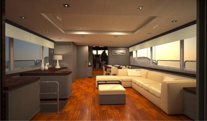 First Oceanic 90' Yacht - Main Saloon