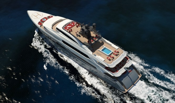 Hull C04 Yacht from above